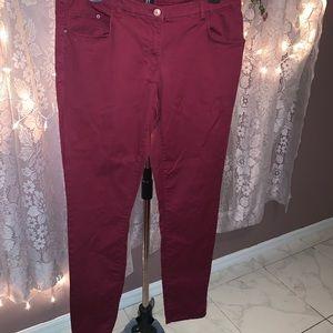 BNWOT H&M wine colored skinny pants